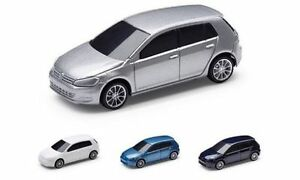 PACK OF FOUR GENUINE VW GOLF MK7 1:64 SCALE PULL BACK TOY MODEL CARS SET