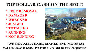 Scrap Car Removal Junk Cars Trucks Vans For CASH - 819-303-1173