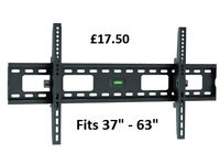 "New Brateck High Quality Large TV Wall Bracket. Fits 37"" - 63"" Flat & Curved Screen TV's"