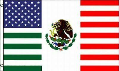 USA Mexico Friendship American Mexican Combination 3×5 Banner Flag Décor
