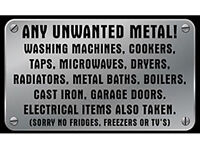 WANTED - scrap metal collected for free in Ipswich also Washing Machines ovens taps & pipes ect
