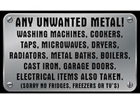 Old Washing Machines & Appliances, Cookers, Car Batteries Old lead Copper Brass metal collected