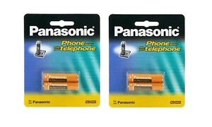 2 Packs of OEM Panasonic HHR-4DPA/2B Ni-MH Rechargeable Cordless Phone Battery