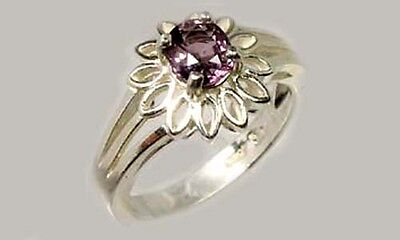 """Lavender Spinel Ring ¾ct+ Antique 19thC Ancient Mariner """"Way Stone"""" Compass Gem"""