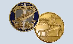 USS Simon Lake AS 33 Submarine Tender Coin Navy USN