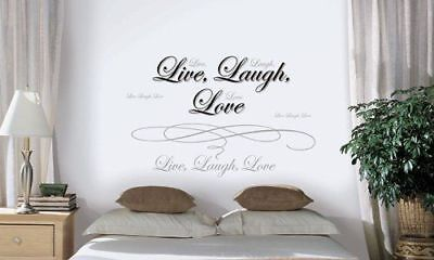 New LIVE LOVE LAUGH QUOTE WALL DECALS Words Stickers Quotables Vinyl Art Décor (Live Laugh Love Wall Decals)