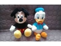 VINTAGE 1980S DISNEY MICKEY AND DONALD SET OF 2 VGC
