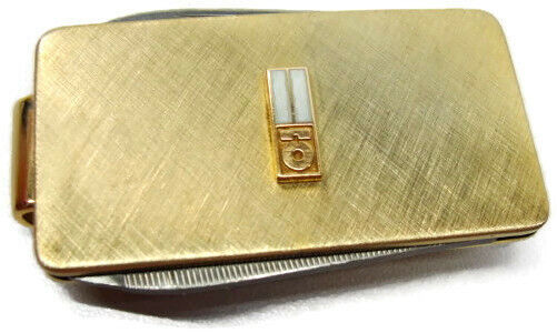 10K Yellow Gold Emblem Money Clip Knife and File Imperial Stainless USA