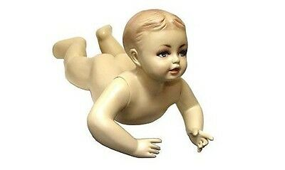 Mn-037 Crawling Tummy Time Baby Toddler Fleshtone Mannequin With Realistic Face