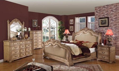 A Leather Sleigh Bed Makes An Excellent Addition To Your Bedroom, And  Buying An Entire Matching Set Of Bedroom Furniture Not Only Ensures Your  Bedroom Looks ...