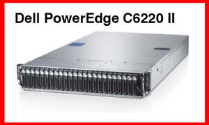 Dell PowerEdge C6220 II Rack Server with 2 Nodes 96GB RAM 12TB
