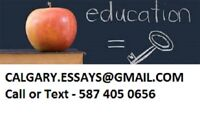 ASSIGNMENTS -  ESSAYS - CALGARY STUDENTS 587 405 0656