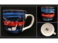Genuine Blue and Red Porsche Martini Racing Drivers Selection Mug WAP0509250J