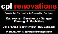 HOME RENOVATIONS. SMALL OR LARGE JOBS. FREE ESTIMATES