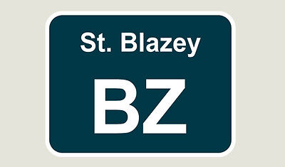 1x St Blazey Train Depot Sticker/Decal 100 x 77mm