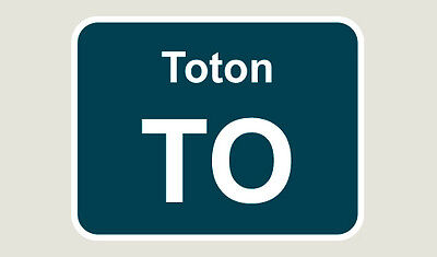 1x Toton Train Depot Sticker/Decal 100 x 77mm