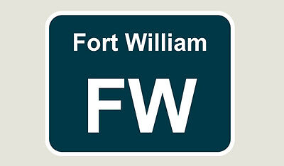 1x Fort William Train Depot Sticker/Decal 100 x 77mm