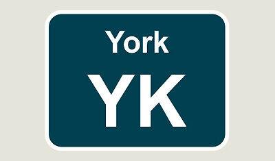 1x York Train Depot Sticker/Decal 100 x 77mm