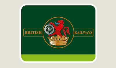 Original Deltic Livery - British Rail Train Depot Sticker/Decal 100 x 77mm