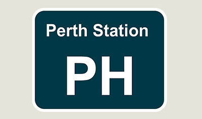 1x Perth Station Train Depot Sticker/Decal 100 x 77mm