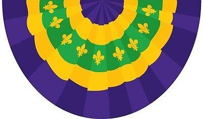 5x3 New Orleans Mardigras Mardi Gras Bunting 3x5 Flag  yello