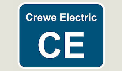 1x Crewe Electric Train Depot Sticker/Decal 100 x 77mm