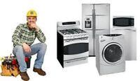 Appliance Repair & Install Fridge, Dishwasher, Washer, Dryer