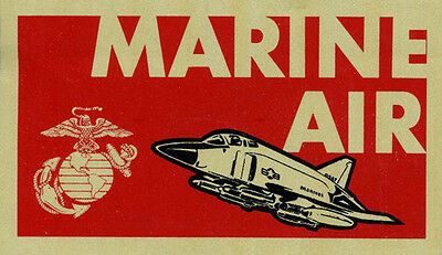 USMC MARINE CORPS AIR AVIATION AIRCRAFT WING BUMPER STICKER DECAL