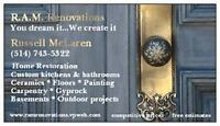R.A.M. RENOVATIONS - SPECIALISTS IN HOME RENOS AND REMODELING