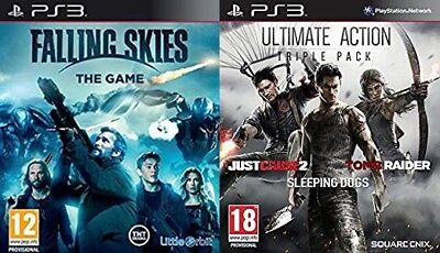 ultimate stealth triple pack USED & falling skies the game NEW&SEALED  PS3 PAL comprar usado  Enviando para Brazil
