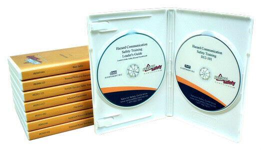Twenty (20) OSHA Compliance & Safety DVD Training Kits W/Power Points & Manuals