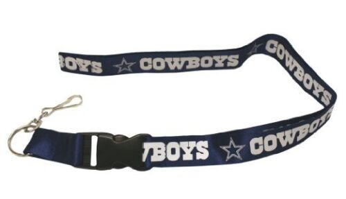 Cowboys-Silver-Licensed-NFL-Keychain-ID-Holder-Detachable-Lanyard-Brand-New
