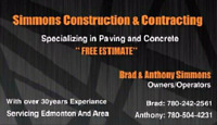 FREE QUOTE..... Simmons construction