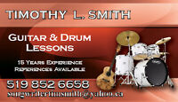 IN-HOME PRIVATE GUITAR & DRUM LESSONS