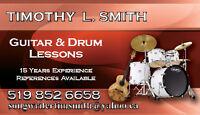 GUITAR & DRUM LESSONS