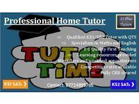 KS1 and KS2 Home Tutor. SATS. 11+ Preparation. General Tutoring. Resources Provided.