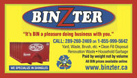 Roofing bins , Renovation Bins , Garbage Bins, Dirt Bins,