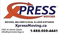 "XPRESS MOVING/LOCAL & LONG DISTANCE MOVERS""SINCE 1999"""