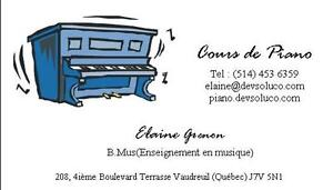 Cours de piano West Island Greater Montréal image 1