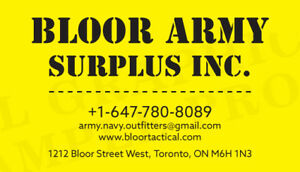 BLOOR ARMY SURPLUS INC The top 5 army surplus stores in Toronto