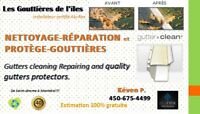 reparation repair cleaning   nettoyage gutter  gouttiere