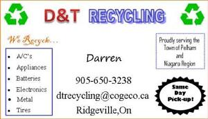 RECYCLING ALL ELECTRONICS, APPLIANCES, METAL IN FONTHILL,PELHAM