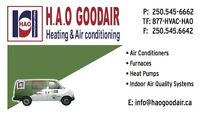 Air conditioners, furnaces, air quality systems