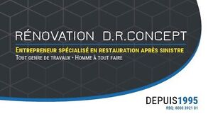 DEGAT D'EAU SOLUTION D.R.CONCEPT 514-777-3095 West Island Greater Montréal image 1