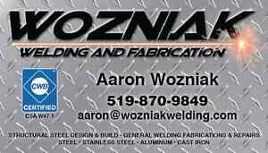 Professional welder for repairs and new fabrications