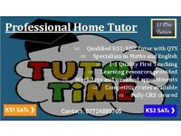 KS1 and KS2 Home Tutor. SATS. 11+ Preparation. General Tutoring. Resources Provided.