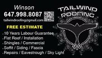 Tailwind Roofing company (free estimate)(high quality)