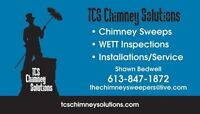 CHIMNEY SWEEPS - WETT INSPECTIONS - SERVICE - PELLET STOVES