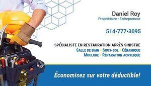 Dégât d'eau Solution D.R.Concept 514-777-3095 West Island Greater Montréal image 1