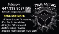 Free estimate....Tailwind roofing!